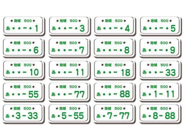 Aプラン画像:希望番号制度とは、自動車のナンバープレートにあなたの希望する番号を付けることができる制度です。