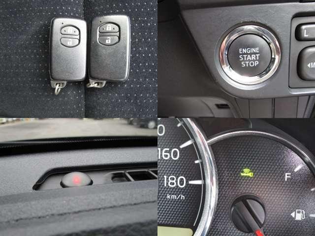 イモビライザーセキュリティ付スマートキーで、盗難防止 スタートシステムで、スタートボタンでエンジン始動が可能です。