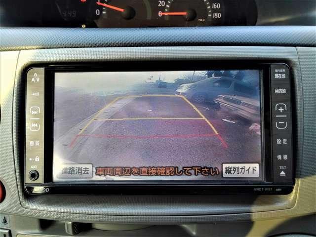 バックカメラ付きでバックでの駐車も楽々安心ですね♪