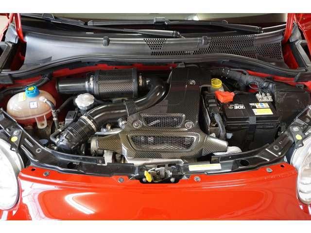 ☆ カーボンエンジンカバー・大型フロントレーシングインタ-クーラー・BMC製カーボンエアクリーナーボックス・アルミエンジンフード ☆