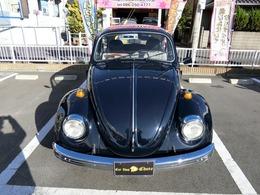 1973年式(ずれ可能性あり)フォルクスワーゲンビートルユーザー買取致しました程度の良さボディの美しさ紺色(黒系)に全塗装ペイントで大変綺麗です長年保管をされてきた愛車の売却です
