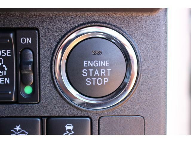 エンジン始動はプッシュスタートで楽々♪電子カードキーを携帯していれば、ブレーキを踏みながらボタンを押すだけでエンジンの始動がスマートに行えます☆