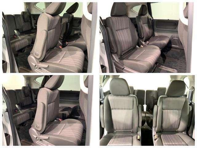 2列目セパレートシートです。左右シートが離れているので開放感が高まります。前席から後席へ移動ができるウォークスルーがとても便利です。