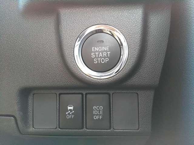 プッシュタイプのエンジンスタートスイッチ!