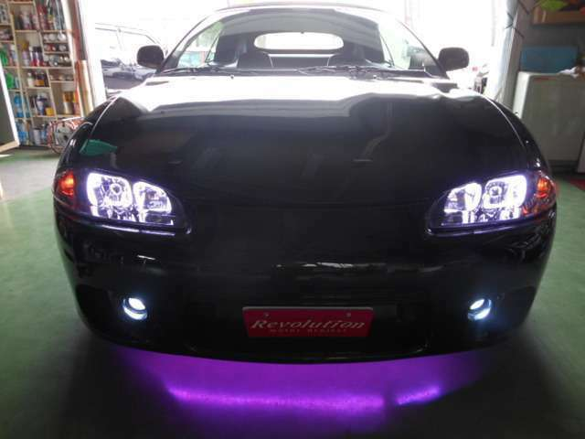 HIDヘッドライト HIDフォグ アンダー16色 RGB LED