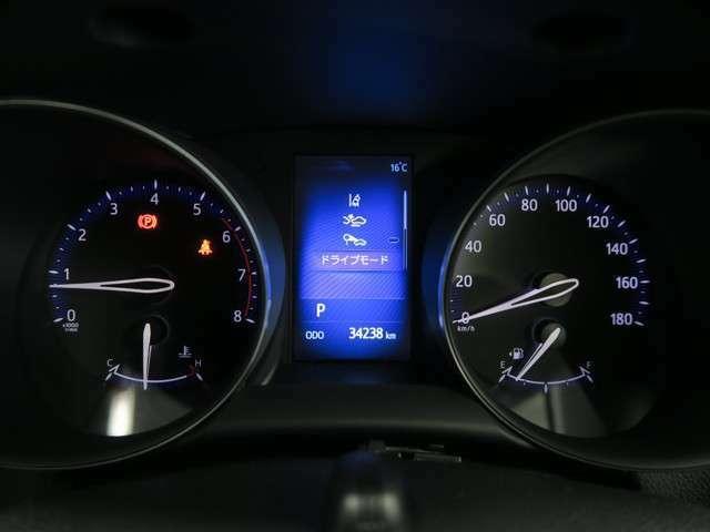【マルチインフォメーションディスプレイ】車両の情報をドライバーに伝えるモニターです。