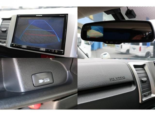 もちろんバックカメラ付き!新車時オプションのバックカメラ内臓自動防眩ミラー・AC100Vコンセント・助手席エアバッグも完備しております!
