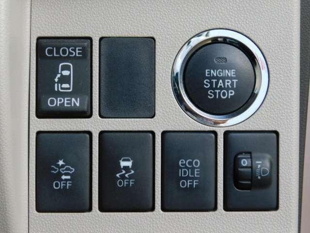 パワースライドリヤドアは運転席からボタン操作で楽々開閉♪ また、キーフリーキーのボタンでも操作出来ます。