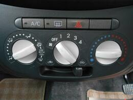 エアコンももちろん装備!使い易いパネルです。