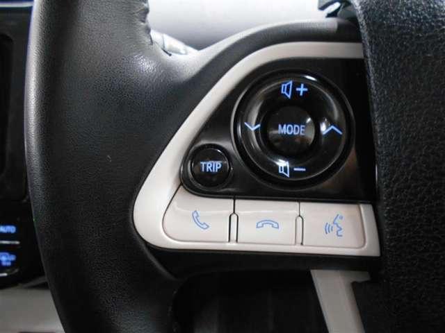 オーディオ操作用のスイッチがハンドルについています