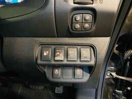 充電ポートリッドオープナースイッチ・充電コネクタロックスイッチ・即充電スイッチ・車両接近通報装置一時停止スイッチ・が付いています☆