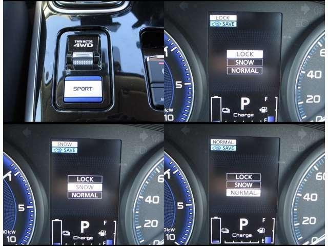 4WDの走行モードはスイッチ操作で簡単切替!!状況に応じた最適なモードを選択できます!!