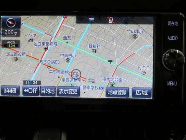 純正SDメモリーナビを搭載。詳細地図も入っているので、初めて行く場所でも道に迷うことなく安心です