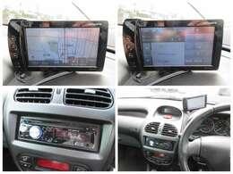 ポータブルナビと社外オーディオが装備されています♪画面もクリアで運転中も確認しやすいです♪オーディオはAUX、USBが接続できるので好きな音楽機器でお楽しみ頂けます♪