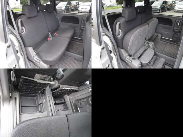 セカンドシート チップアップシートで、足元にはアンダーボックスが付いています。