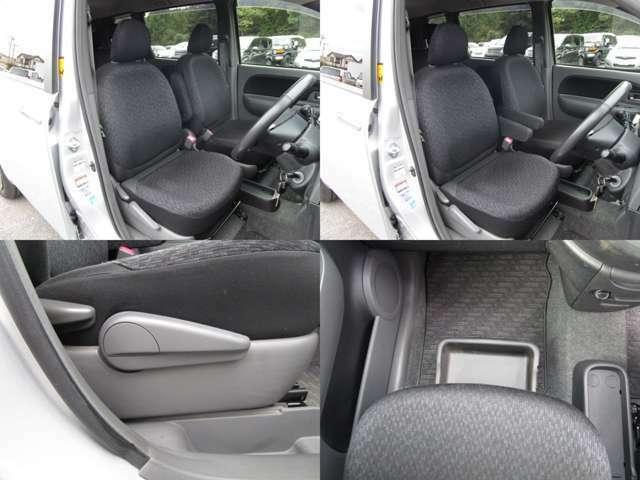 フロントシート センターアームレスト付で、運転席にはシートリフター(シート上下調整)機能が付いています。 助手席はアンダーボックス付です。