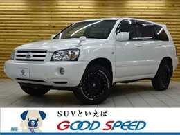 トヨタ クルーガー 3.0 L S FOUR 4WD 黒革 HDDナビ KMC/XD127Bully リフトUP