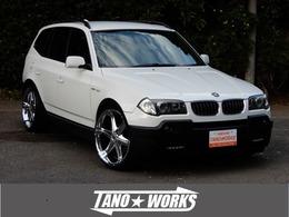 BMW X3 2.5i 4WD KW車高調  ANTERA 22アルミ ステンマフラー