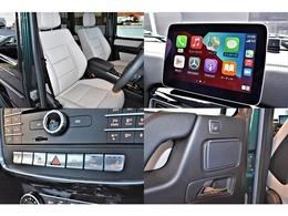 インテリアは、sシートにグレーレザーを選択。ラグジュアリーPKGを選択する事で、本革シートや前後席シートヒーターが装備。Apple car playやAndroid Autoに対応しております。