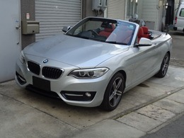 BMW 2シリーズカブリオレ 220i スポーツ ナビETC電動OP赤革シートBカメラドラレコ