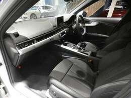ブラックを基調とした車内にマットブラッシュドアルミニウムデコラティブパネルを組み合わせた、上質でシンプル且つ、スポーティーな雰囲気を演出したインテリアです!Sライン専用装備も多数装備しております!!