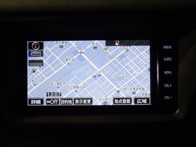 あったら安心・便利なメモリーナビ付き♪初めて行くところや知らない町や道だってこれで安心♪フルセグTV・CD・DVD再生機能・Bluetoothも対応でオーディオ機能充実♪
