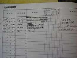 記録簿26.27.28.31.ディーラーにて