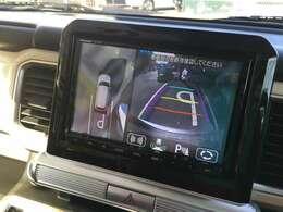 全方位カメラパッケージ装着車で全方向の視死角をモーラし安全に後退出来安心です!