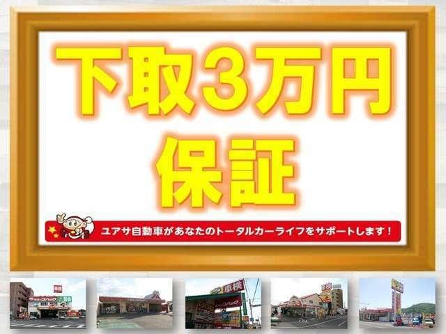 只今キャンペーン中です。軽自動車は1万円保証になります。