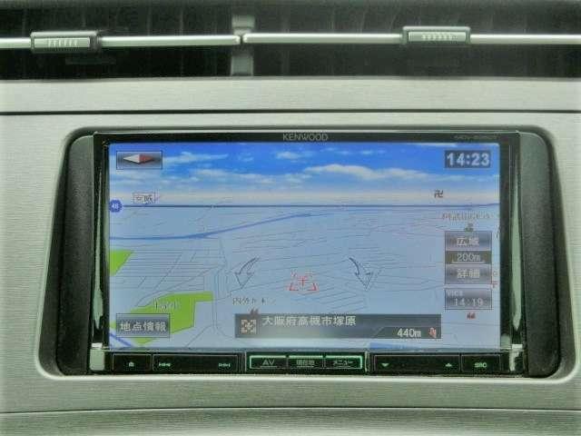 KENWOODメモリーナビ【MDV-535DT】ワンセグTV・DVD・CD・SD
