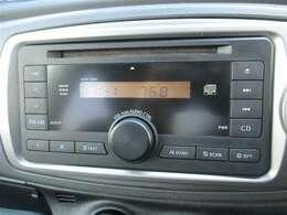 【オーディオ】ラジオやCDを聴くことができます。
