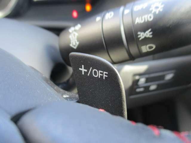 マニュアルモード付のオートマッチック車 ステアリングに装着してあるパドルシフトでシフトアップ&シフトダウンの変速可能!