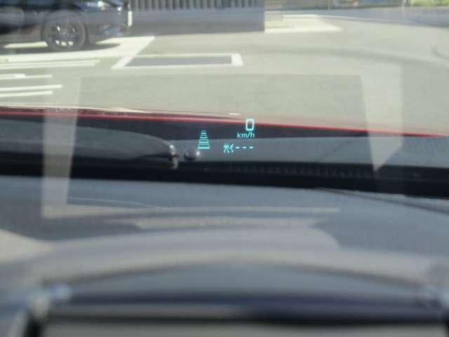 アクティブドライビングディスプレイ 車速やナビのルート誘導など走行時に必要な情報を表示 視線の移動が少なくて確認出来る構造になっています。
