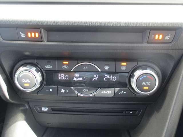 フルオートエアコンで快適ドライブ♪左右で異なる温度設定が出来る独立タイプ!前席シートヒーター機能付きで寒い冬のシートも瞬時に温まります♪