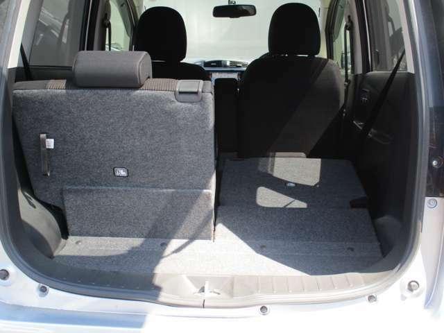 たくさん荷物を積むならフラットになったほうが安定性ありますよ!