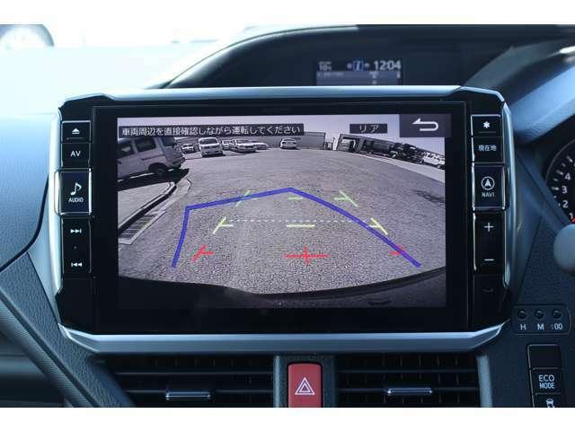 Aプラン画像:ハンドルの動きに合わせて動くガイドライン付のバックモニターで駐車も安心です。