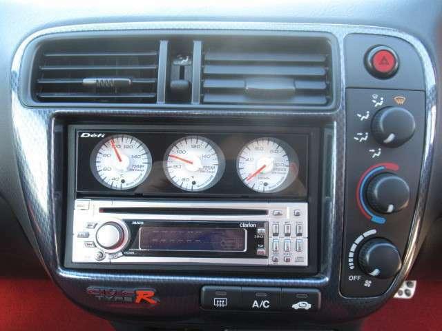 社外CDオーディオ!Defi3連メーター装着です!(油温・水温・油圧)