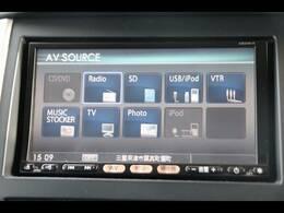 純正HDDナビを装備。TV、DVD再生可能、音楽の録音も可能です。