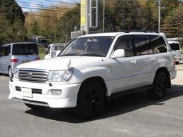 トヨタ ランドクルーザー100 4.7 VXリミテッド 4WD 新品シートカバー ナビ TV ETC AW黒塗装
