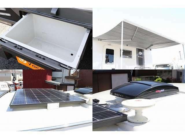 ソーラーパネル サイドオーニング付き リヤ外部収納