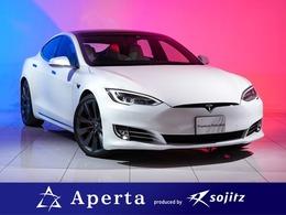 テスラ モデルS P100D 21インチアルミ白革シートカーボンデコール