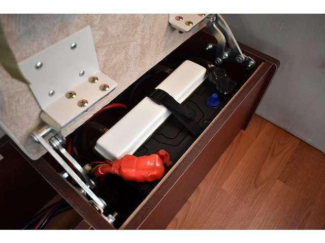 サブバッテリー・走行充電器・外部電源!!その他追加装備の取り付けも当社にお任せ下さい!!