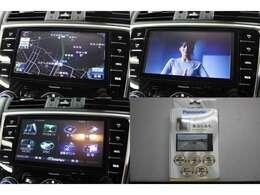 純正オプションSDナビTV装備です。DVDビデオの再生やSDカ-ドをご用意頂ければCD録音機能もあります。型番はCN-LR700DFAです。Bluetoothの接続はは携帯電話のハンズフリ-機能に使用可能です。