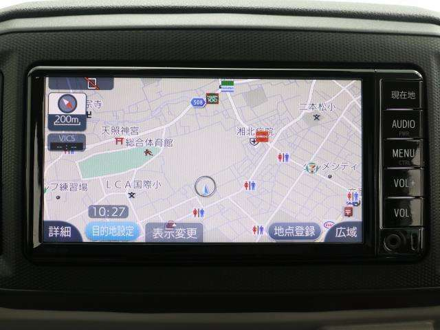 トヨタ純正SDナビ!タッチパネルで操作が可能です。最近の主流のメモリーナビです。もちろんオーディオ機能も内蔵してます。