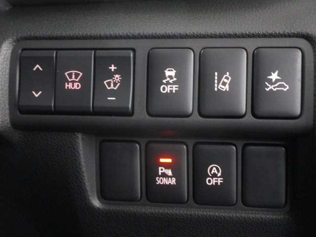 衝突被害軽減ブレーキ、車線逸脱警報、前後誤発進抑制機能、後側方車両検知警報システム(レーンチェンジアシスト機能付き)などの安全装備が付いており、安全性の高い車です。
