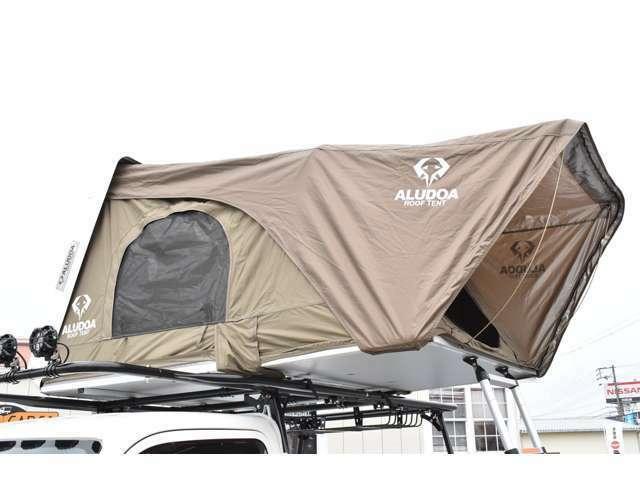 時間が掛かるテントの設営もなく、気軽にテントが出せますね!