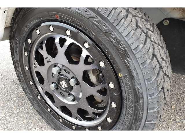 MLJアルミにタイヤはヨコハマタイヤ新作のGEOLANDAR X-AT 145R14を装着!