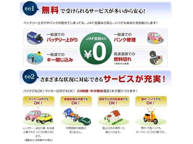 Aプラン画像:JAFロードサービスで受けられる内容の一覧です。