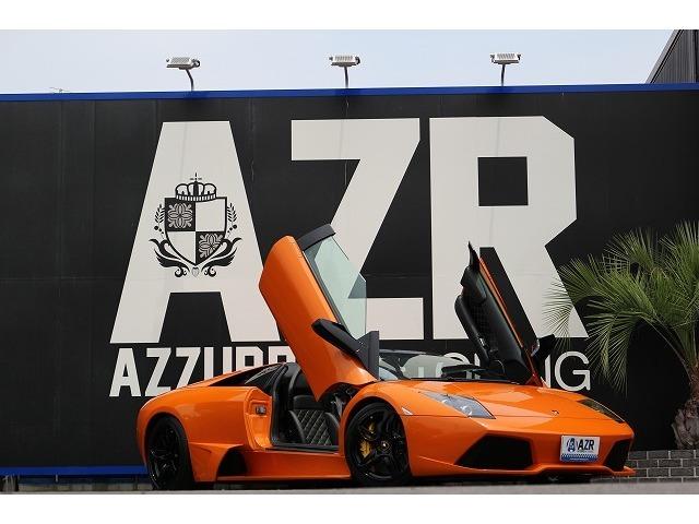 ランボルギーニ ムルシエラゴ LP640 ロードスター ガラスエンジンフード ブレンボブレーキ パワークラフトマフラー(可変付)本革シート 装備!!
