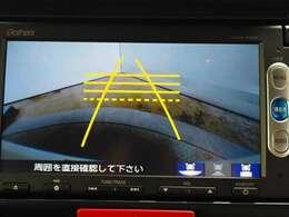 後方確認はオマカセのリアカメラ付、ガイド線は再セットいたします。 車庫入れもラクラクですね。